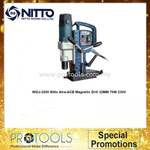 Nitto WOJ-3200 Atra-ACE Magnetic Drill 32MM 70W 230V