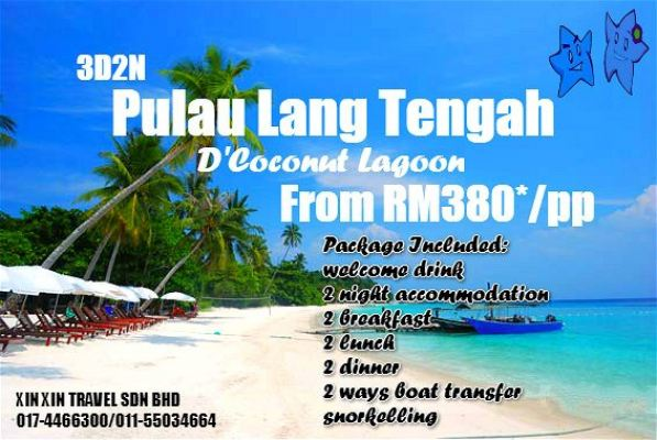 3Day2Night Pulau Lang Tengah (D'Coconut Lagoon)