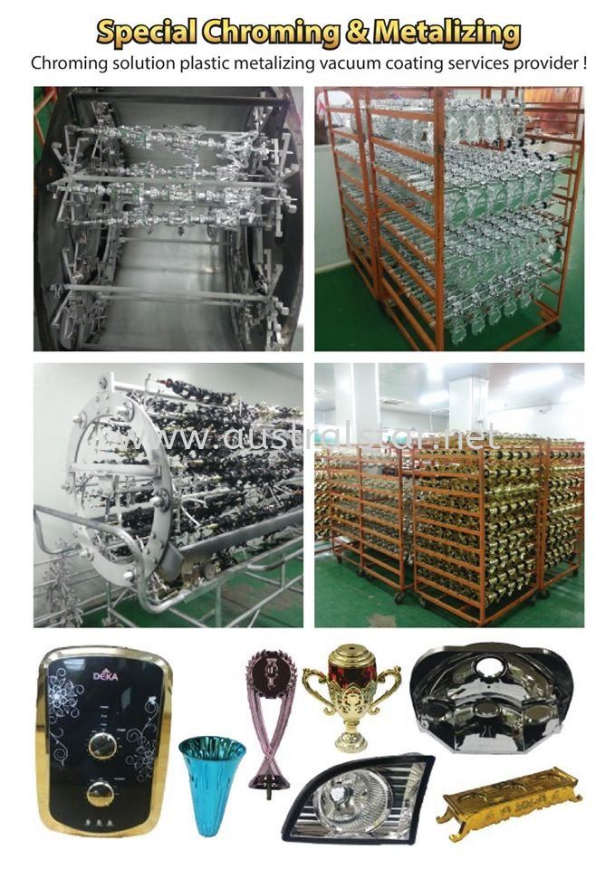 Services of plastic vacuum metallizing process