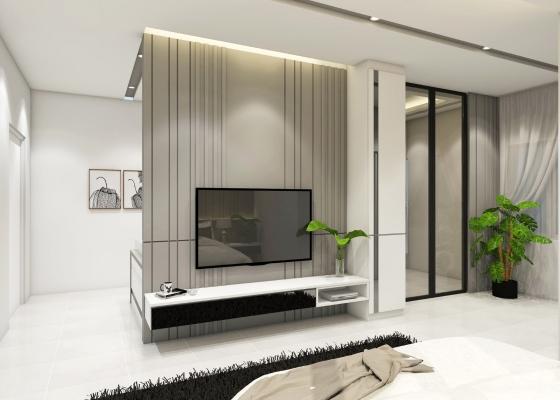 Built-in TV Rack 3D Design Refer