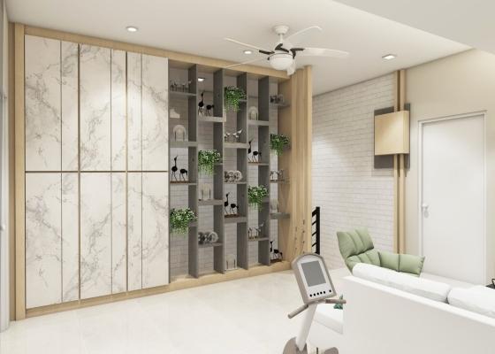 GYM Room & Display Wardrobe 3D Design
