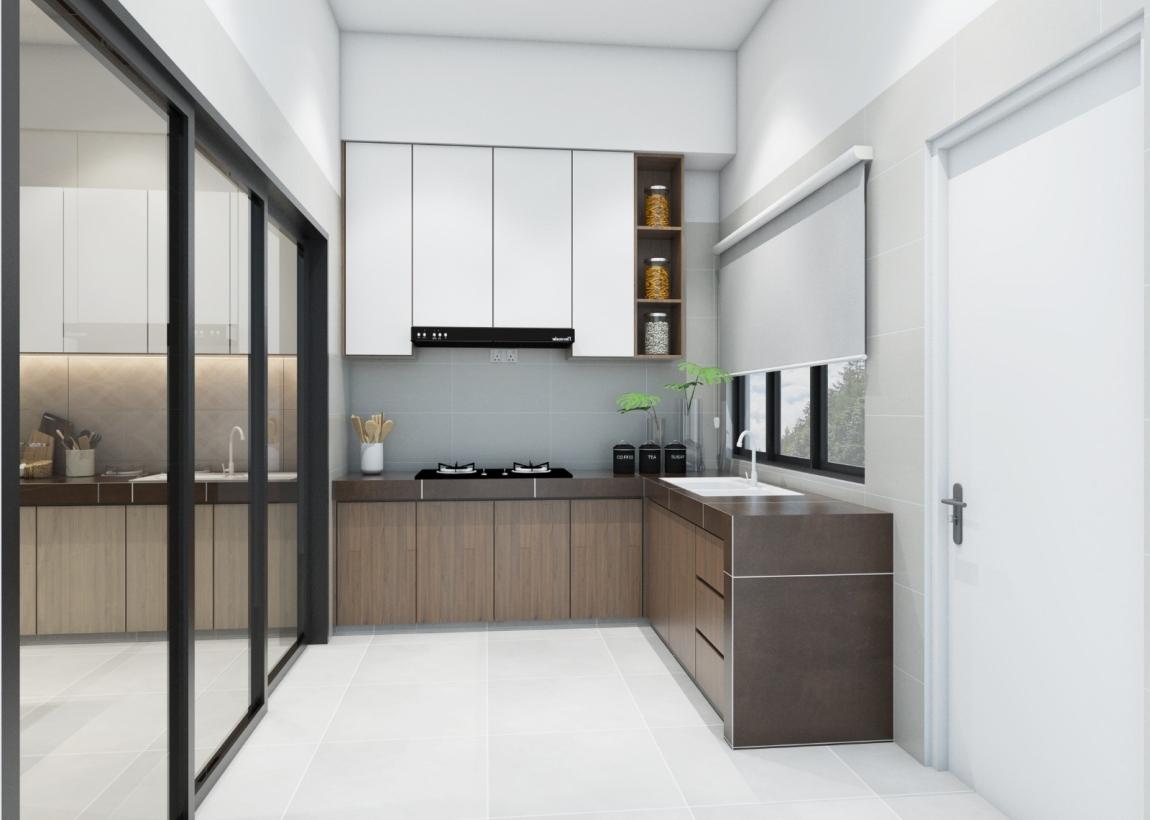 古典感厨房壁橱设计 厨房壁橱 厨房 3D设计图