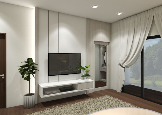 Family Living Hall 3D Design Drawing