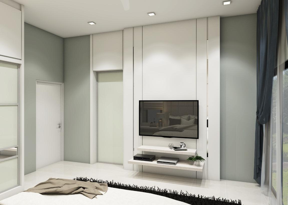 卧房电视机橱柜3D设计 卧房 3D设计图