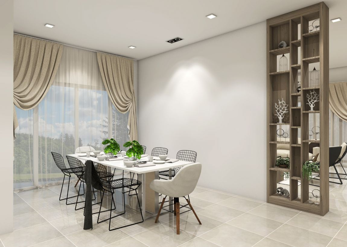 Classic Dining  3D Design Drawing Dining Area  3D Design Drawing
