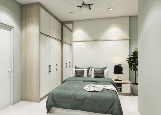 Bedroom & Built-in Wardrobe 3D Design Drawing
