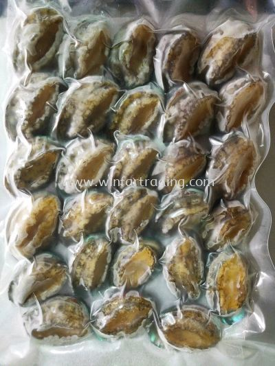 PRIMIUM COOKED ABALONE WITH SHELL 29-30PES 500G HALAL