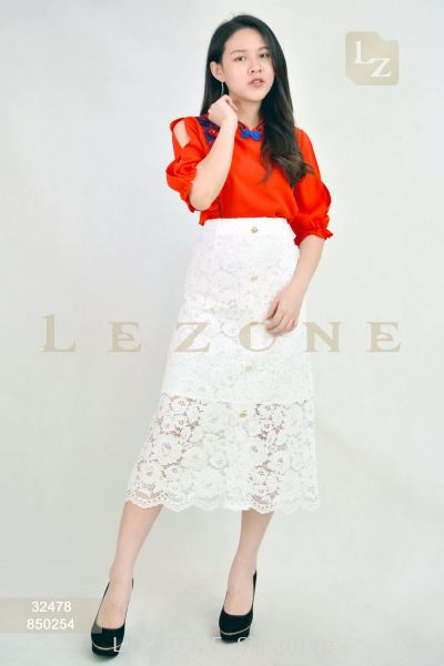 850254 LACE MIDI A-LINE SKIRT 【2ND 50%】