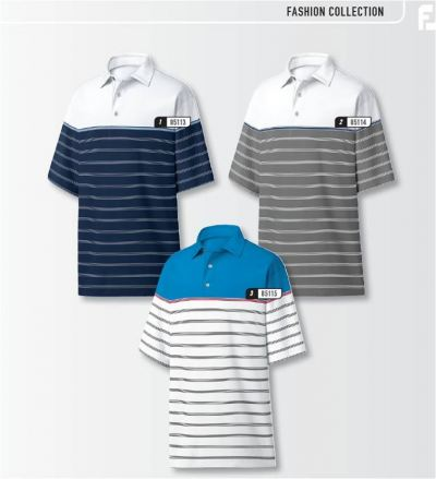 FJ LISLE COLOR BLOCKED STRIPE SELF COLLAR APPAREL