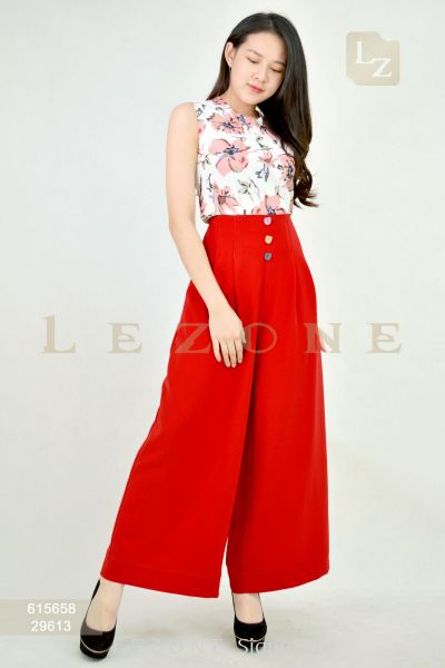 29613 BUTTON DETAIL MAXI CULOTTES��1st 10% 2nd 20% 3rd 30%��