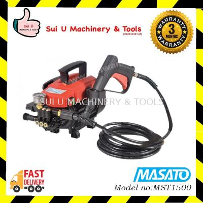 MASATO MST1500 High Pressure Cleaner / Water Jet 1500w 90bar Induction Motor