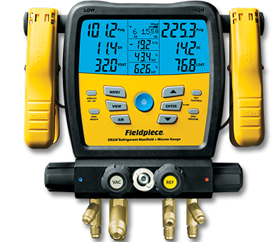SM480VINT��Wireless 4-Port SMAN™ Refrigerant Manifold and Micron Gauge