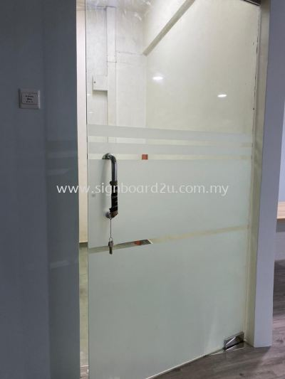 BRILLIANT EXPRESS LOGISTICS SDN BHD FROSTED STICKER ON GLASS  AT TAMAN BAYU KLANG SELANGOR