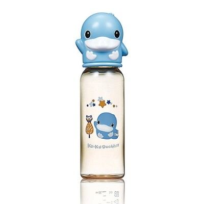 KUKU DUCKBILL PPSU Standard Feeding Bottle BLUE 240ml (KU5860)