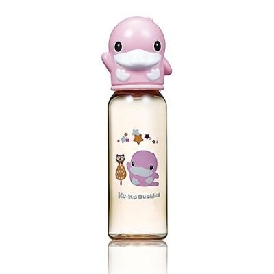 KUKU DUCKBILL PPSU Standard Feeding Bottle PINK 240ml (KU5860)