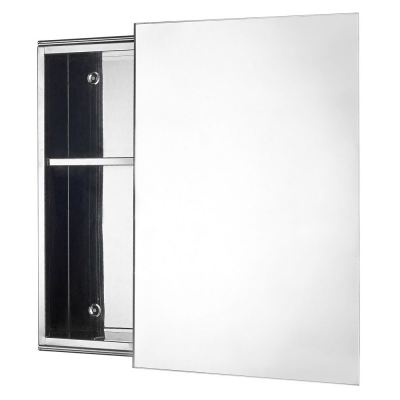 Latina LTN 3754 Stainless Steel Mirror Cabinet with Sliding Door