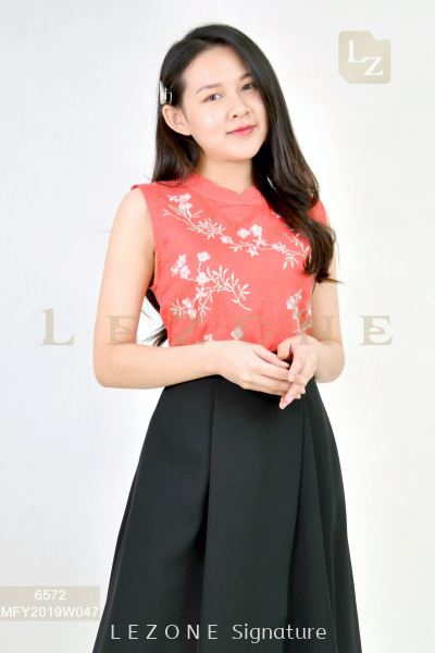 6572 EMBROIDERED FLORAL BLOUSE ��BIG SALE 50%��