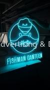 Fishman Canteen Neon Light Signage - light blue Neon Light
