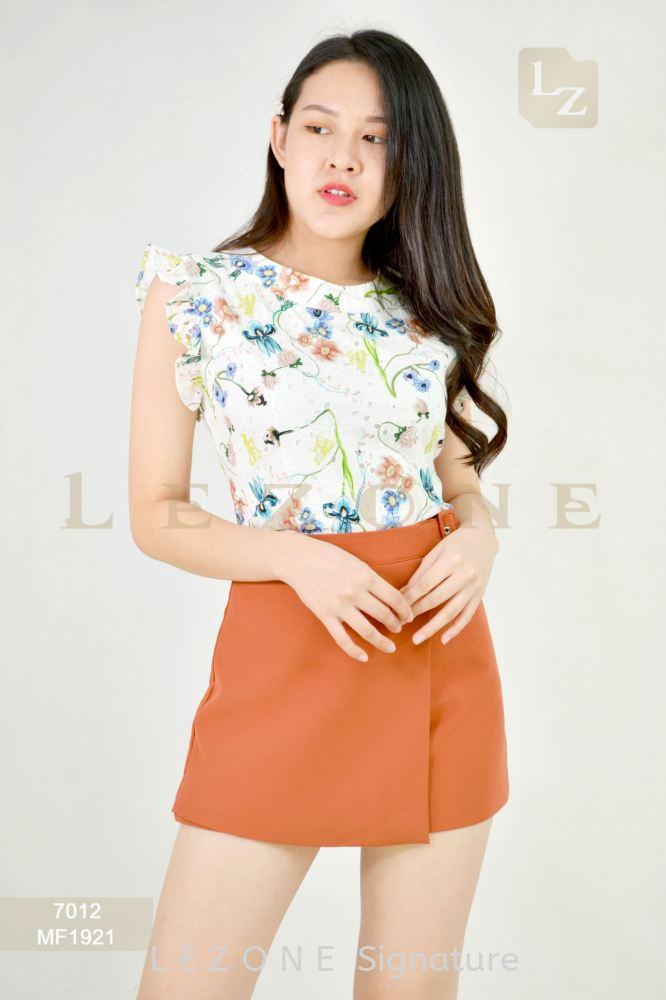 7012 FLORAL MESH BLOUSE【2ND 50%】