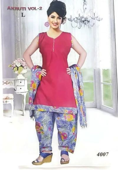 COTTON PRINTED PATTIYALA SUIT
