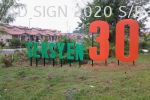 3d lettering with pole stand Stand Pole Signboard Road Signboard
