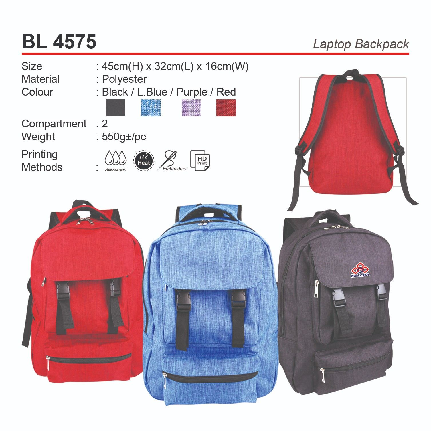 BL4575 Laptop Backpack (A)