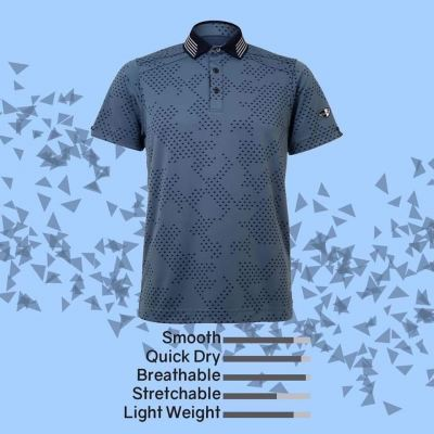 CREST LINK 2020 QUICK DRY CHARCOAL GREY CHECKERED APPAREL