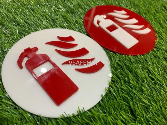 3D Fire Equipment Signage (Dia 150mm)