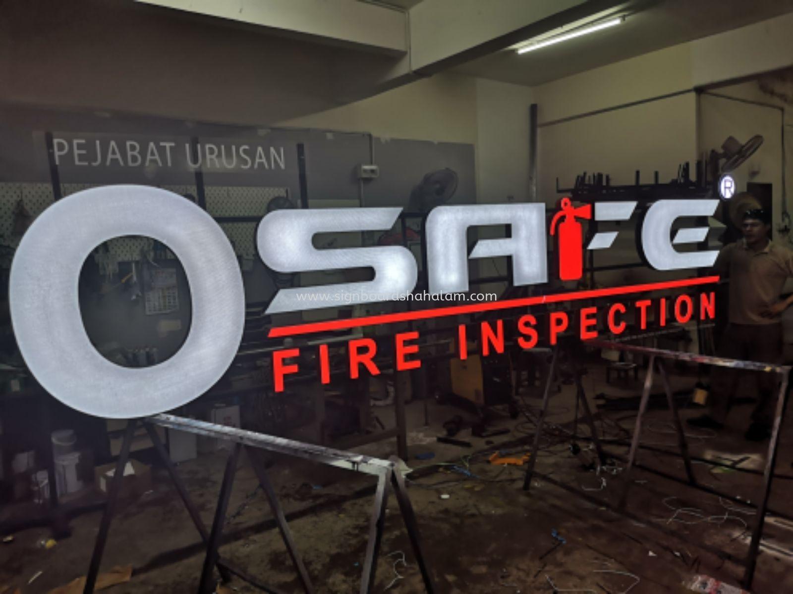 O SAFE FIRE INSPECTION 3D LED SIGNAGE, Puchong