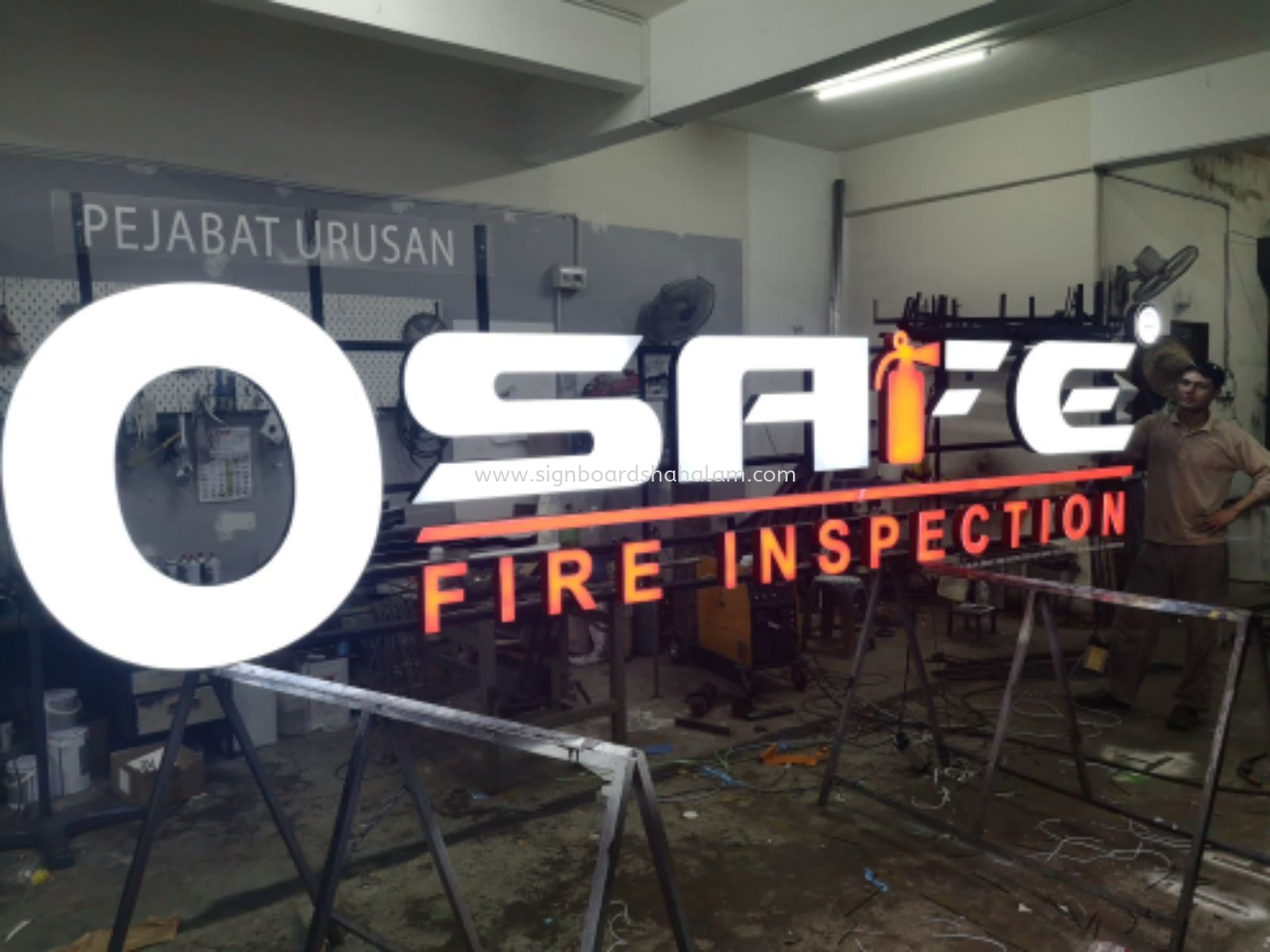 O SAFE FIRE INSPECTION 3D LED SIGNAGE, Puchong