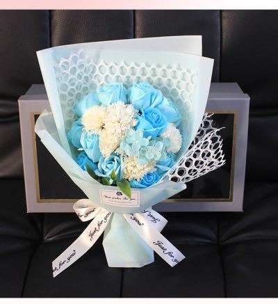 Flower Set With Box - 19pcs (Blue)