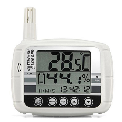 AZ INSTRUMENT CORP. LARGE LCD/LED TEMPERATURE & HUMIDITY DATALOGGER 8808/8809