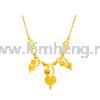 Love Leaf ( 15.54 g) MOULD DESIGN 999 GOLD (24K) Necklace