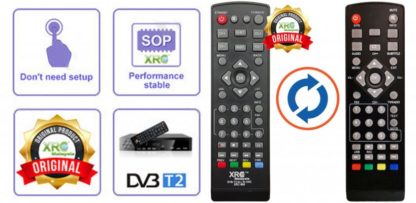 DIGITAL BUMI DVB-T2 REMOTE CONTROL