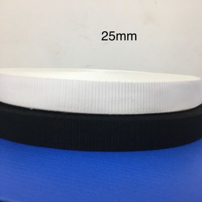 25mm PP Tape Thick White & Black