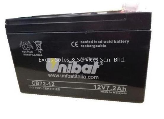 Unibat Platinum 12V 7.2Ah Backup Battery