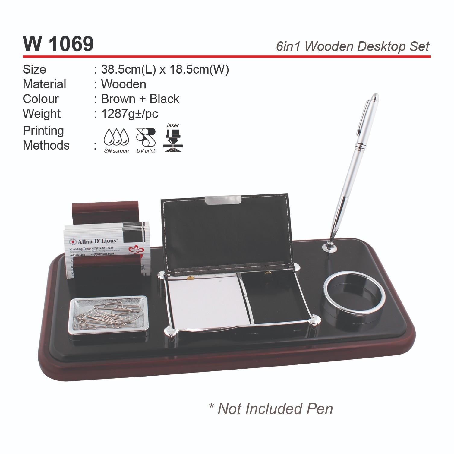 W 1069  6in1 Wooden Desktop Set