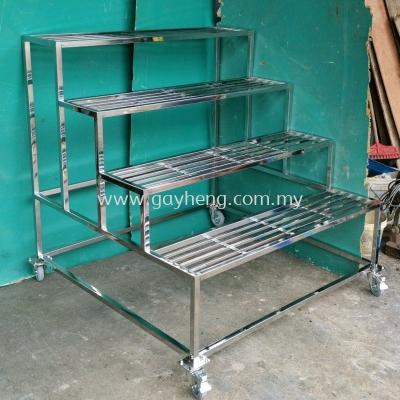 Stainless Steel 4 Tier Flower Rack ��4�㻨��