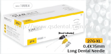 Starject Long Dental Needle 27G-XL