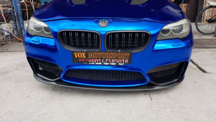 bmw f10 front bumper m4 add on front lip m performance style real Carbon fiber material new set