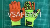 Cut Resistant Safety Work Glove Anti Vibration Anti Impact Oil-proof Protective With Nitrile Dipped Palm Glove for Working Hand Protection PPE