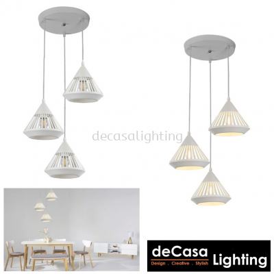 PENDANT LIGHT (LY9016-3RB-WH)