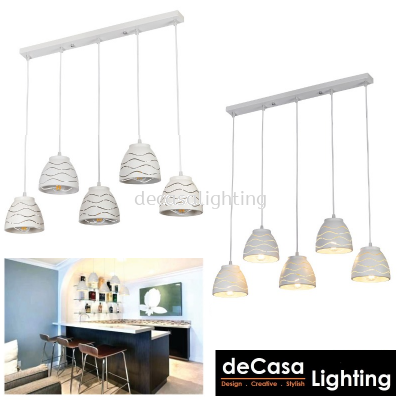 PENDANT LIGHT (LY9020-5LB-WH)