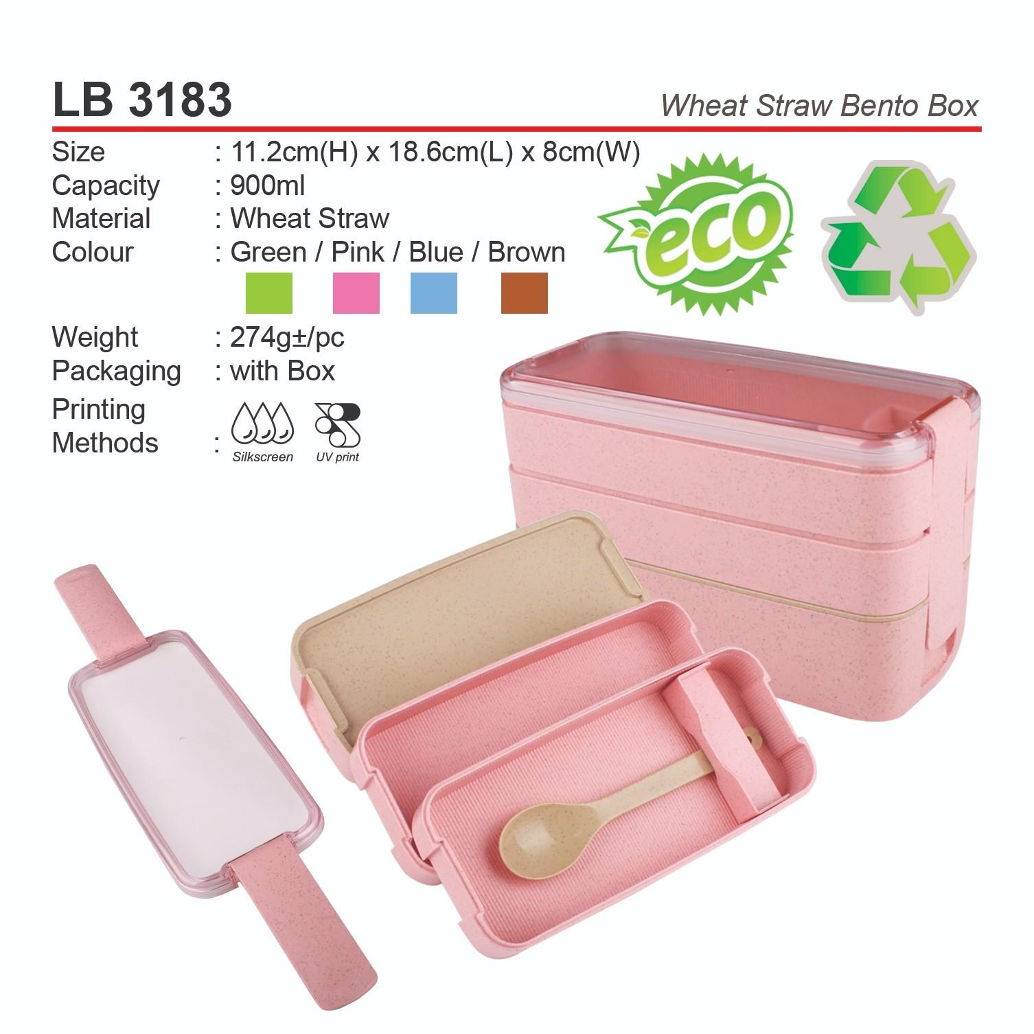 LB 3183 Wheat Straw Bento Box