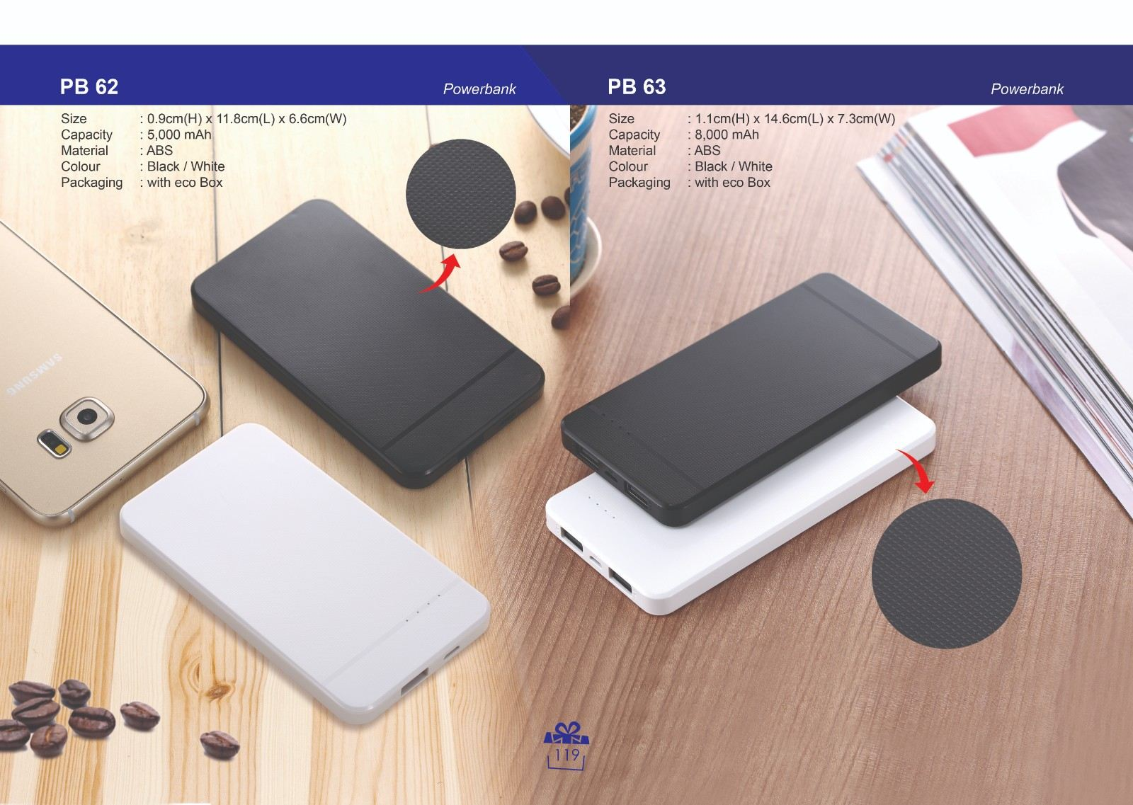 PB 62 & PB 63 Powerbank