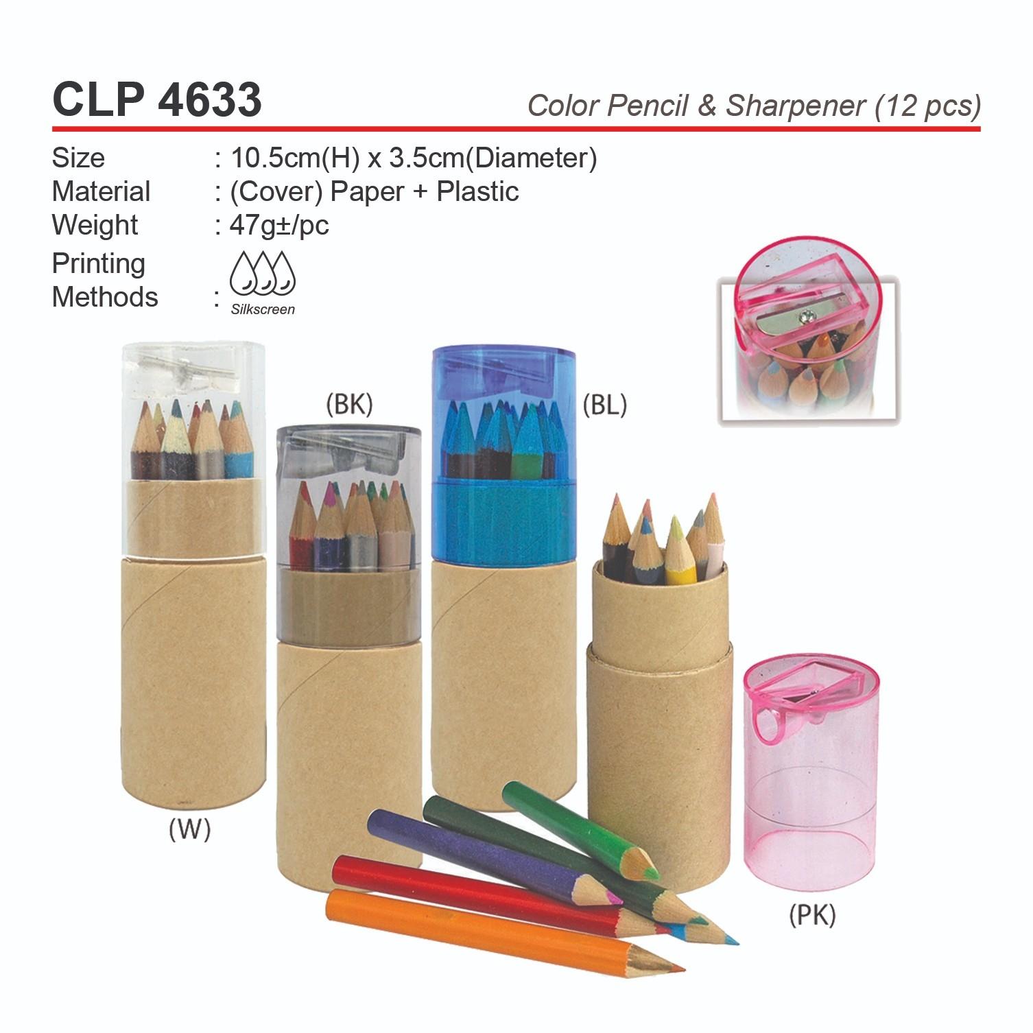 CLP 4633 Color Pencil & Sharpener (12pcs)