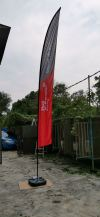 5meter wing flag printing with out door stand WIND FLAG