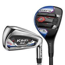 Cobra Mens King Speedzone One Length Combo GRAPHITE Irons and 1 piece HYBRID