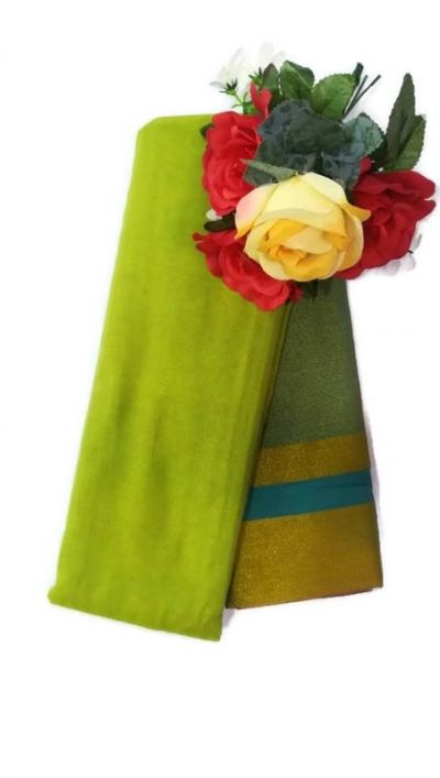 SOFT COTTON SAREES[TWO TONE]