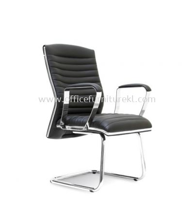 ZICA DIRECTOR VISITOR LEATHER CHAIR WITH CHROME TRIMMING LINE